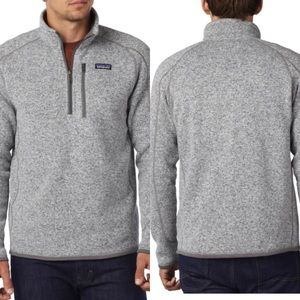 Patagonia Gray Better Sweater ¼ Zip Fleece XXL